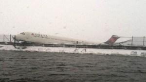 Plane Skids Off Runway at NYC's LaGuardia Airport