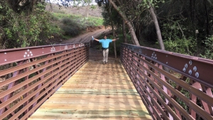 New Hiking Bridge Opens on Poway's Old Coach Trail