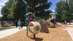 Volunteers Build New Playground in Santee