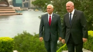 Mike Pence Discusses North Korea With Australia Leader