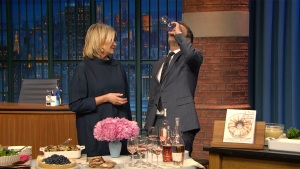 'Late Night': Seth Meyers Drinks Wine With Martha Stewart
