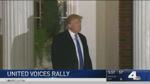 United Talent Agency Holds Rally Against Trump's Policies