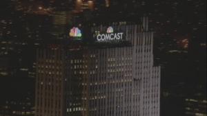 WATCH: NBC Peacock Lights Up NYC Skyline for First Time in History