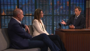 'Late Night': Lauer, Guthrie Speak on Trump