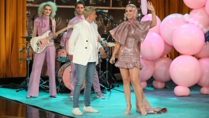 Katy Perry Rocks Out During Ellen DeGeneres Taping