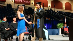 Surprise Proposal at Mesa College Graduation