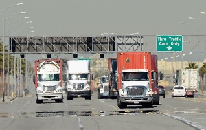 Port Truck Drivers on Strike