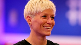 Soccer Star Megan Rapinoe Kneels During US Anthem