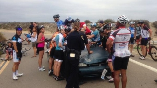 Images: Car Drives into Group of Cyclists on Fiesta Island