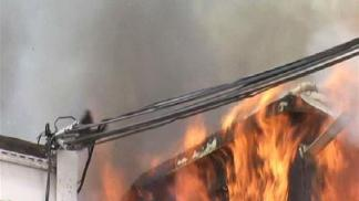 Raw Video: Hillcrest Apartment Fire