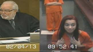 See Woman Give Judge the Middle Finger