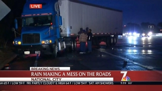 Truck Jackknife Closes 805 On Ramp