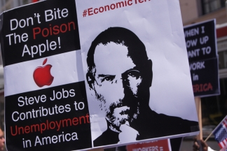 Protesting Apple's Hiring Practices