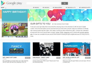 Google Play Birthday Offers Free Downloads
