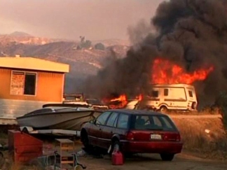Homes Burned in Temecula Wildfire