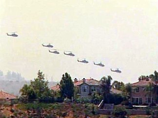 Choppers Fly in Formation