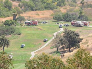 Images: Small Plane Crashes Near Golf Course