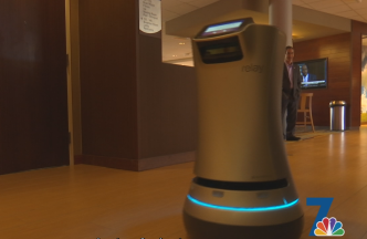 Robot Used For Room Service At Local Hotel