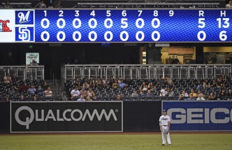 For Padres, the Scoreboard Says it All