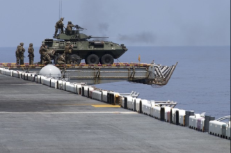 USMC Puts Armored Vehicles on Navy Ships to Defend Against Enemy Boats