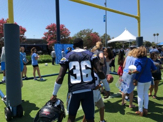 Chargers' Facyson Looks to Make Squad