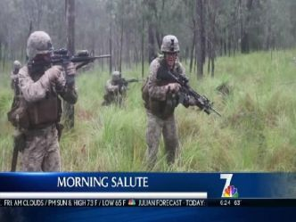Salute to Marines and Sailors participating in Exercise Hamel 2012