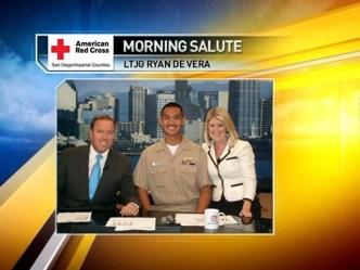 Salute to US Navy Lieutenant JG Ryan de Vera.