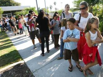Patients Line Up for Vaccines