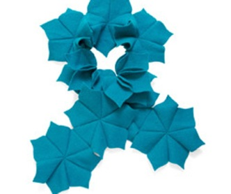 Turquoise Flower Scarf