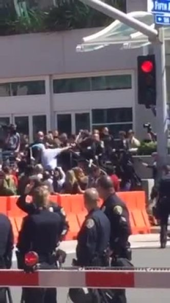 WATCH: NBC 7 User Captures Trump Rally Violence