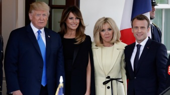 Macron Kicks Off Three-Day State Visit at Mt. Vernon