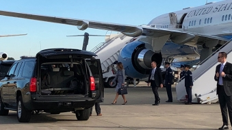 First Lady's Plane Returns to Airport With Mechanical Issues