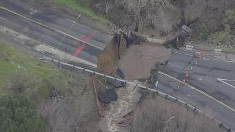 Massive Sinkhole Causes Road to Collapse Near Pinole