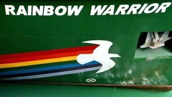 "Greenpeace ""Rainbow Warrior"" Docks in San Francisco"