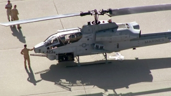 Marine Helicopter Makes Emergency Landing in LA Riverbed