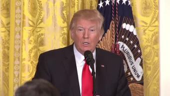 NBC Journalist Fact Checks Trump During Presser