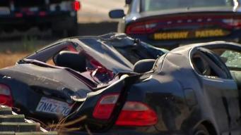 2 Arrested After Fleeing Freeway Crash That Killed Passenger