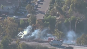 Spot Fires Burn on State Route 905 in South Bay