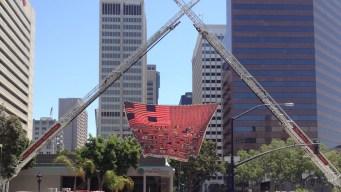 9/11 Memorial Flag in San Diego