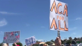 Supporters of Affordable Care Act Rally in Vista