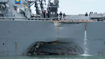 Family Members ID 5 Sailors Missing in Collision