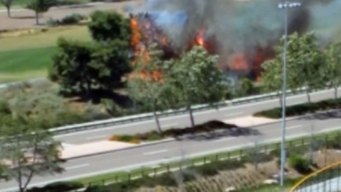 Poinsettia Fire Sparked on Golf Course