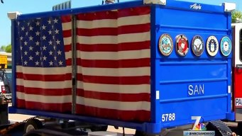 Honor Cart for Fallen Heroes Arrives at Lindbergh Field