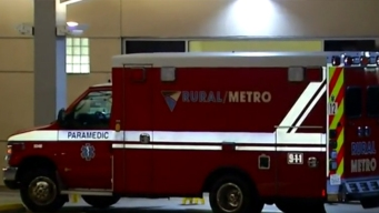 Man Uses Oxygen Tank to Smash Ambulance Windows