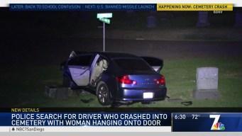 Car Crashes Into Cemetery