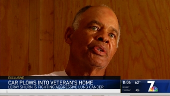 Marine Vet Asks for Christmas Help After Car Plows Into Home