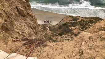Hurt Hiker Hoisted From Trail at Black's Beach