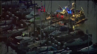 Fire Rips Through Docked Boat at Shelter Island