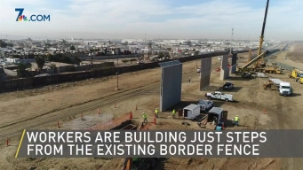 Drone Video of Border Wall Prototypes