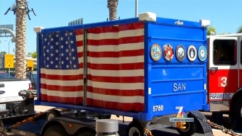 Patriotic Cart Donated to Airport for Fallen Service Members